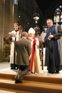 Photo: Bishop Williams at confirmation service