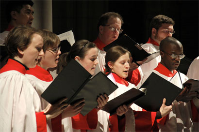 Photo: Trinity Choir at Evensong
