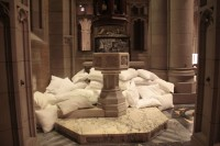 Stations of the Cross 13: Photograph, fluffed white pillows