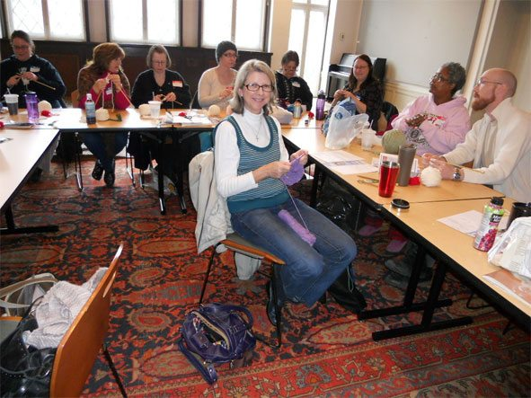 Photo: Annual Knit-in