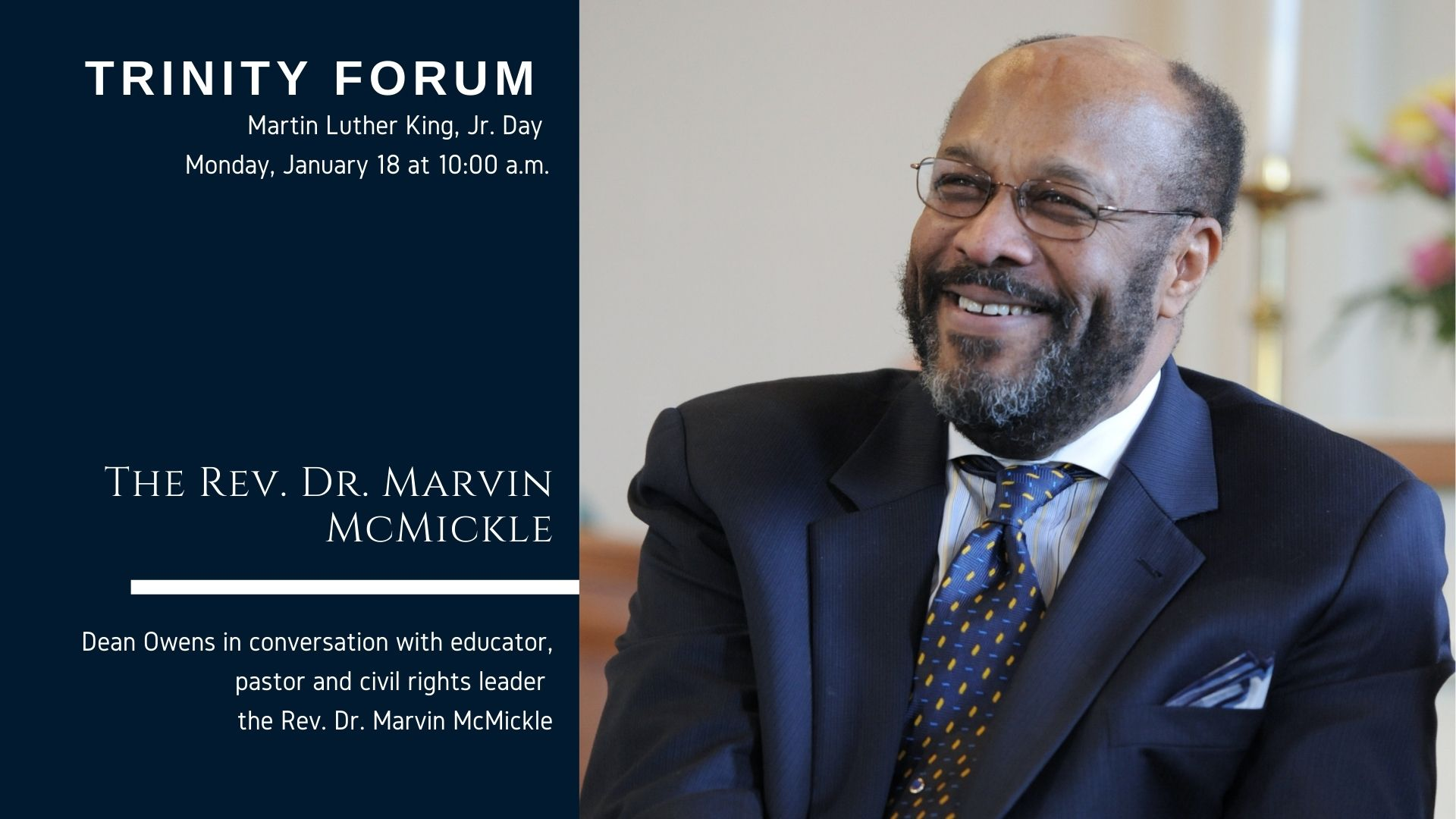 Trinity Forum with the Rev. Dr Marvin MicMickle