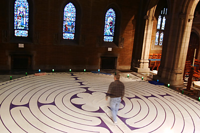 Photo: The labyrinth at Trinity Cathedral
